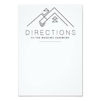 Geometric Mountain   Custom Direction Card 9 Cm X 13 Cm Invitation Card