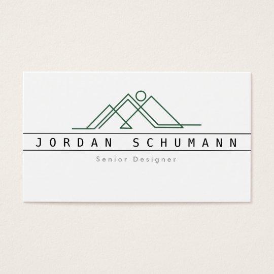 Geometric Mountain Logo | Custom Business Business Card