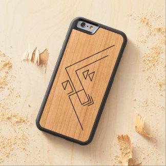 Geometric Mountain   Modern   Custom Carved Cherry iPhone 6 Bumper Case