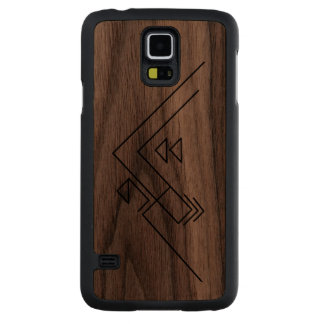 Geometric Mountain | Modern | Custom Walnut Galaxy S5 Case