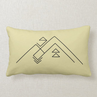 Geometric Mountains | Bohemian Accent Lumbar Pillow