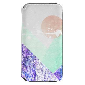 Geometric Mountains Design Purple Green Art 2 Incipio Watson™ iPhone 6 Wallet Case