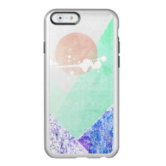 Geometric Mountains Design Purple Green Quilt Art Incipio Feather® Shine iPhone 6 Case