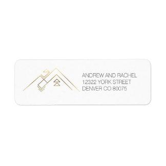 Geometric Mountains| Gold | Custom Address