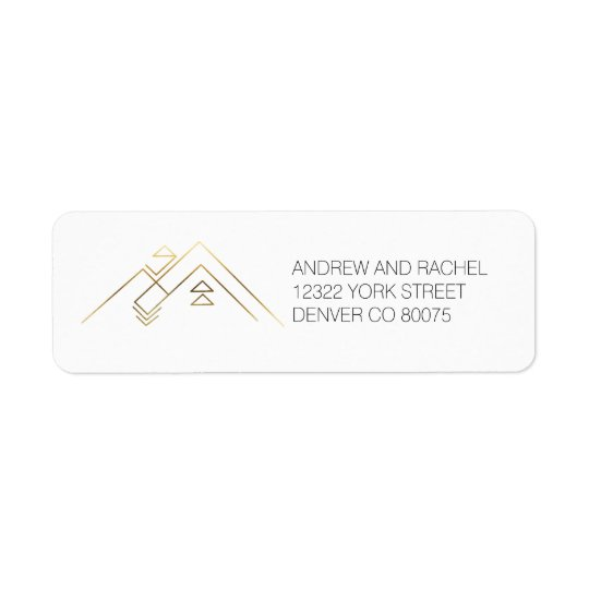 Geometric Mountains| Gold | Custom Address