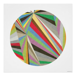 Geometric Multi Colored Art Print I