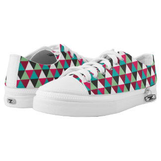 Geometric Native Triangles Mosaic Pattern Low Tops