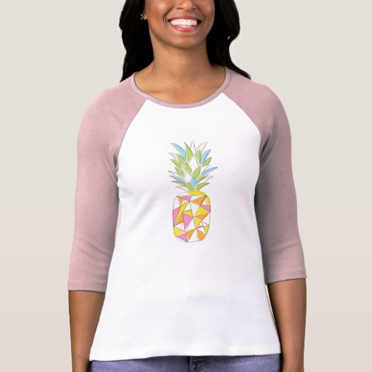 Geometric neon pineapple shirt