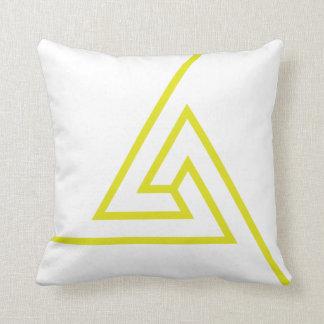 Geometric neon yellow design Pillow