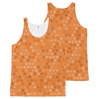 Geometric Orange Polka Dot Design All-Over Print Tank Top