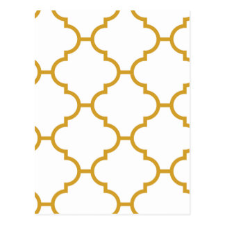 Geometric Ornate Yellow Design Postcard