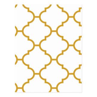 Geometric Ornate Yellow Design Postcard