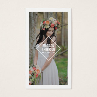 Geometric Overlay   Photography Business Cards