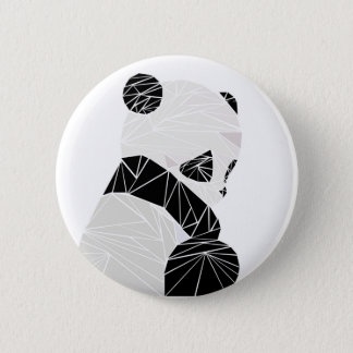 Geometric panda 6 cm round badge