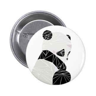 Geometric panda 6 cm round badge