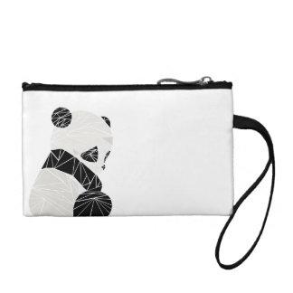 Geometric panda coin purse