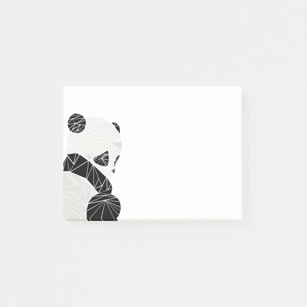Geometric panda post it notes