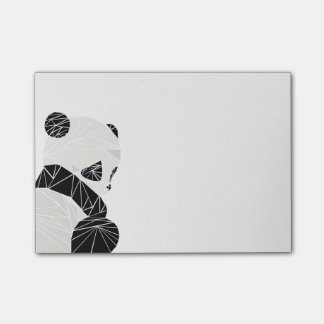 Geometric panda post-it® notes