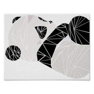 Geometric panda poster