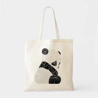 Geometric panda tote bag