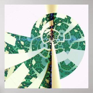geometric parrot paper poster