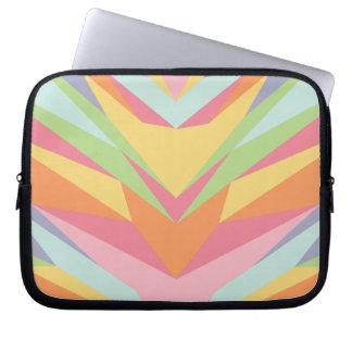 Geometric Pastel Rainbow Laptop Sleeve