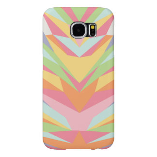 Geometric Pastel Rainbow Samsung Galaxy S6 Cases