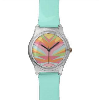 Geometric Pastel Rainbow Watch
