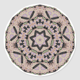 Geometric Pattern 02 - Add your own text Round Sticker