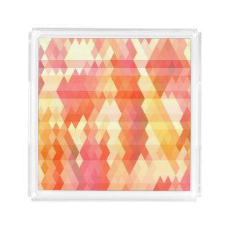 Geometric pattern 1 acrylic tray
