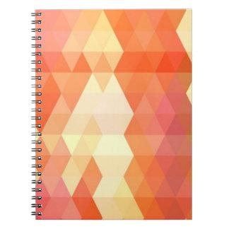 Geometric pattern 1 spiral notebook