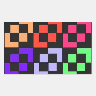 Geometric Pattern 224 Rectangular Sticker