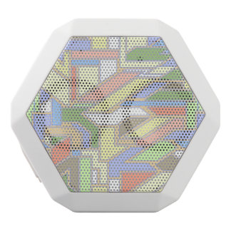Geometric pattern 3 white boombot rex bluetooth speaker