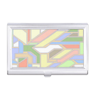 Geometric pattern 3 business card holder