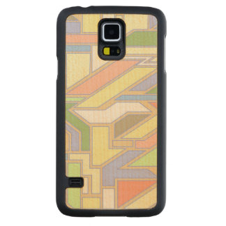 Geometric pattern 3 carved maple galaxy s5 case