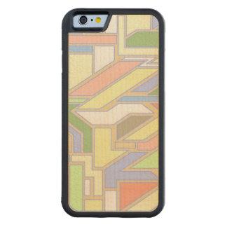 Geometric pattern 3 carved maple iPhone 6 bumper case