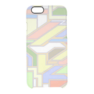 Geometric pattern 3 clear iPhone 6/6S case