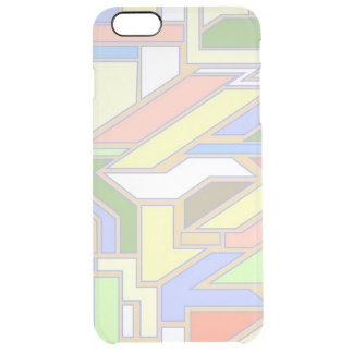 Geometric pattern 3 clear iPhone 6 plus case