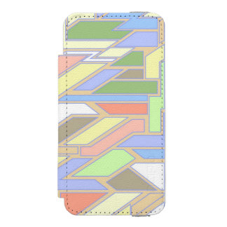 Geometric pattern 3 incipio watson™ iPhone 5 wallet case