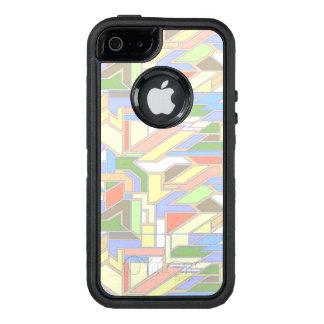 Geometric pattern 3 OtterBox defender iPhone case