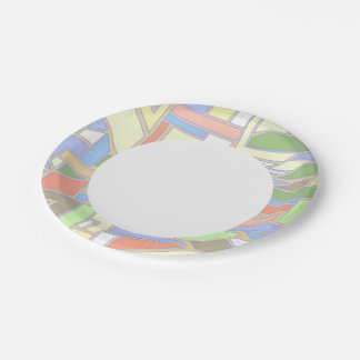 Geometric pattern 3 paper plate