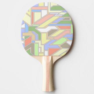 Geometric pattern 3 ping pong paddle