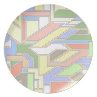 Geometric pattern 3 plate