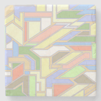 Geometric pattern 3 stone coaster