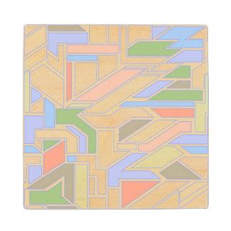 Geometric pattern 3 wood coaster