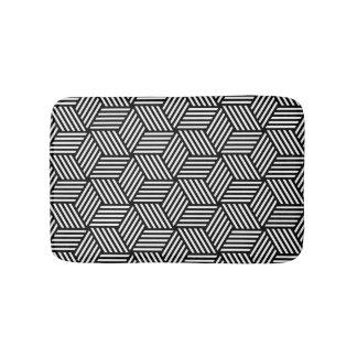 Geometric pattern art design bath mat