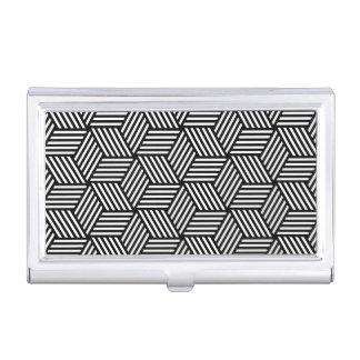 Geometric pattern art design business card holder