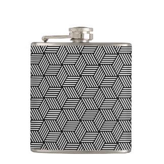 Geometric pattern art design hip flask