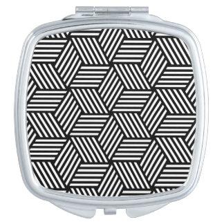 Geometric pattern art design makeup mirror