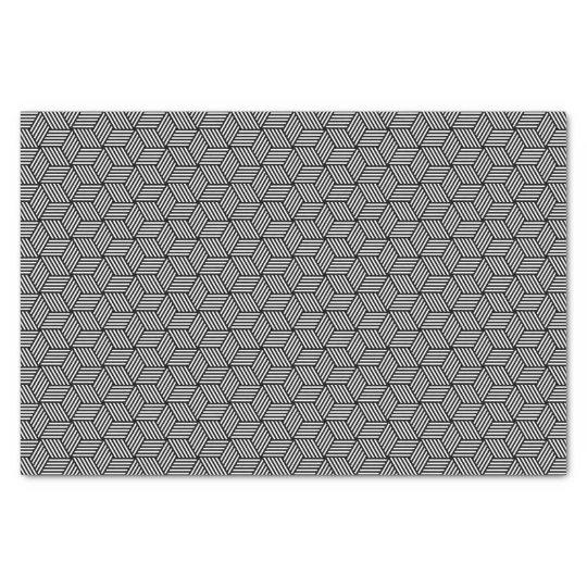 Geometric pattern art design tissue paper